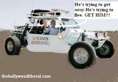President Bush on patrol at the border