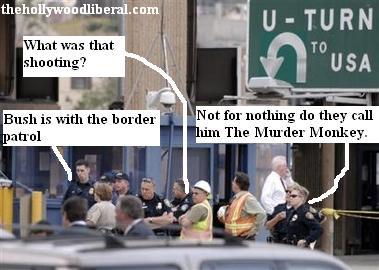 Police react to shooting at U.S. Mexico border