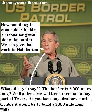 Bush visits the Mexican border