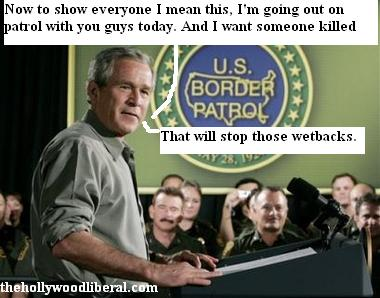 Bush accesses the immigration problem with the U.S. Border Patrol