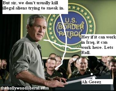 Bush rides with the border patrol