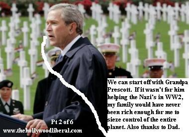 Bush makes a speech at a war cematary in Europe, 050605