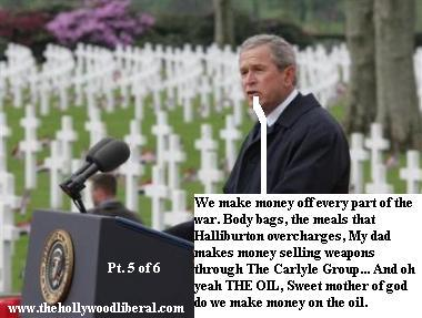 George W. Bush talks to the people his grandfather helped screw over. 050605