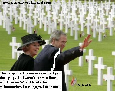 Bush makes a speech at a war cemetary in Europe, 050605