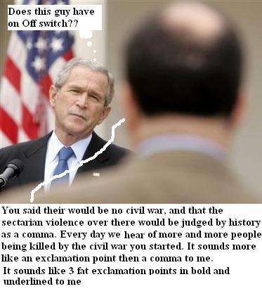 Bush's ever changing war rational