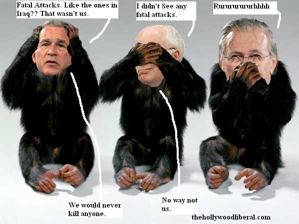 Bush, Cheney, and Rumsfeld wanted in chimp killings