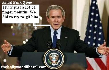 Bush hates finger pointing