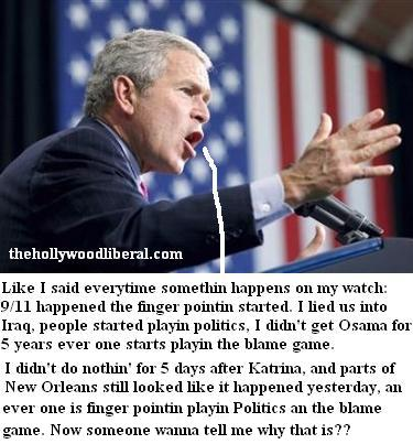 Bush did nothing about Hurricane Katrina