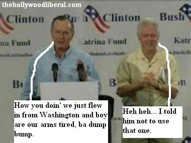 Bill Clinton and Bush Sr.