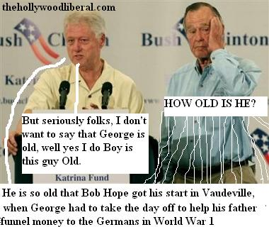 former Presidents Clinton & Bush