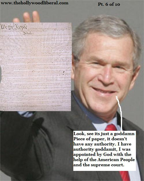 Bush holds up the constitution