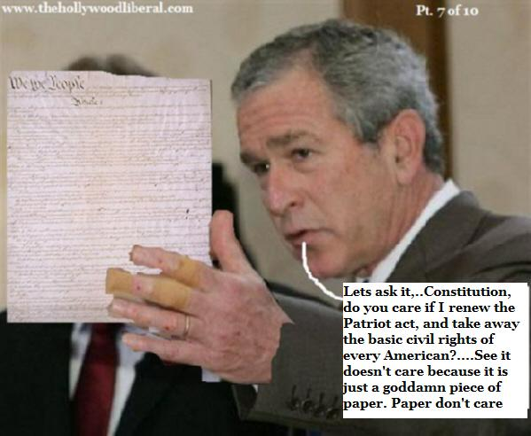 Bush ponders the constitution