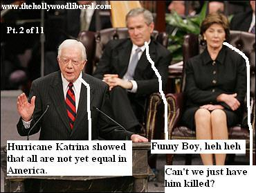 Jimmy Carter has harsh things to say about Bush at King funeral