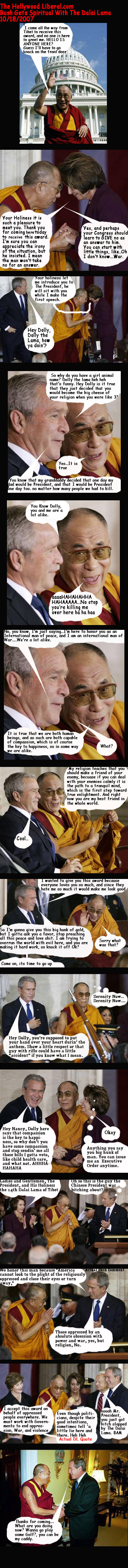 Bush gives medal to Dalai Lama
