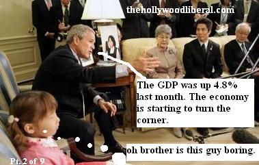 Bush says Economy turning a corner