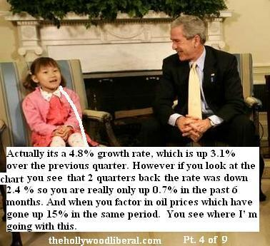 Bush talks about economy with expert