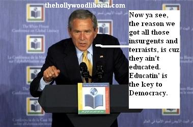 Bush believes education is the key to democracy