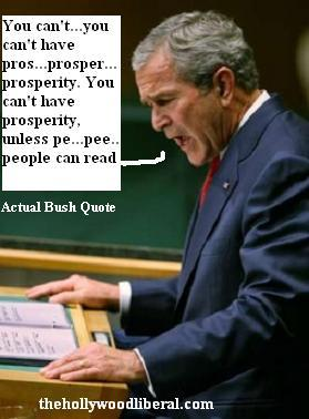 Bush makes a speech on education at the U.N.