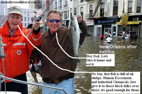 George Bush Sr. and Bush Jr. go on a fishing trip