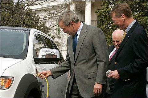 Bush almost blew himself up