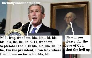 Bush speaks about leaks