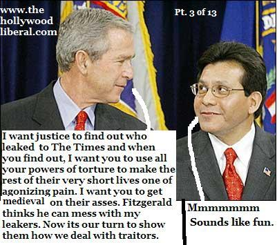 President Bush and Alberto Gonzalez