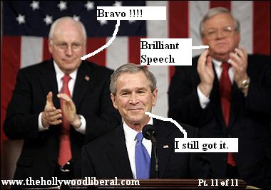Hastert And Cheney relate to Bush's latest speech