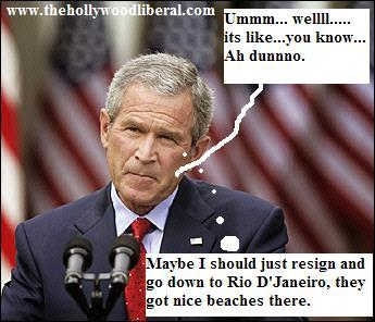 President Bush never answers questions