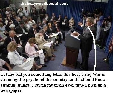 President Bush takes s at press conference