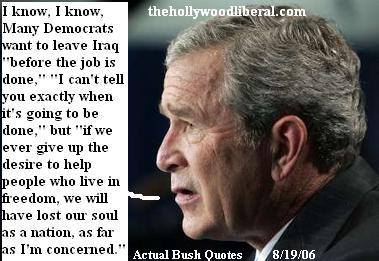 Bush approval ratings at all time low makes a speech