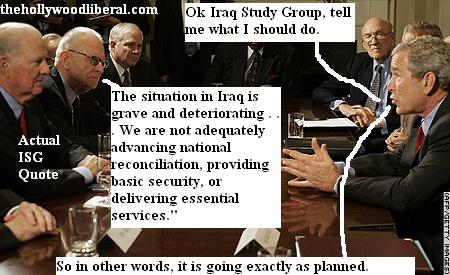 President Bush meets with the Iraq study group