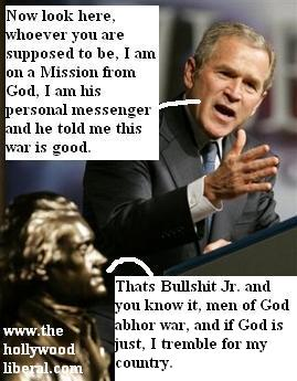 Thomas Jefferson is spinning in his grave over what Bush has done to this country