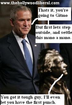 Political opposites discuss the Iraq War, Bush, and Jefferson
