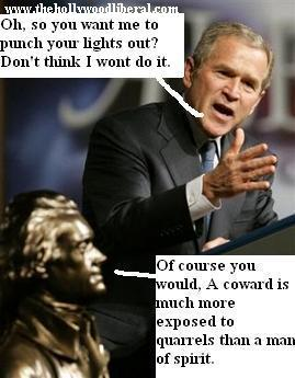 Bush and Jefferson dicuss political discourse after Bush recieves the Jefferson freedom award .