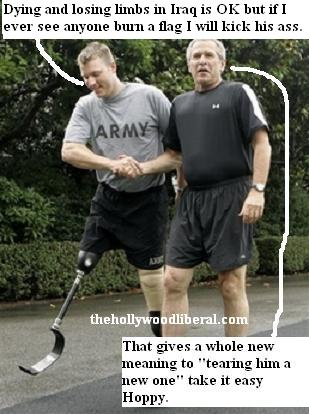 Bush meets Staff sergeant Christian Bagge
