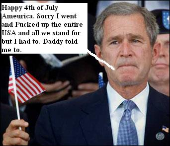 George W. Bush has a special message for all Americans on this 4th of July 070405