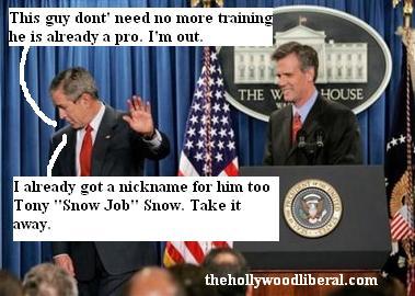 President Bush and Tony Snow