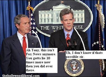 President Bush has a new press secretary to stonewall reporters
