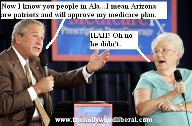 The President gives a speech on medicare to senior citizens in Arizona