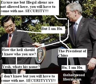 Bush and Chinese President Hu