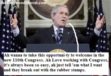 Bush tells the new congress of democrats what he wants