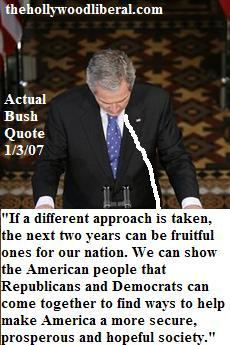George W. Bush makes a speech