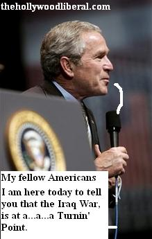 Bush repeating the lies again