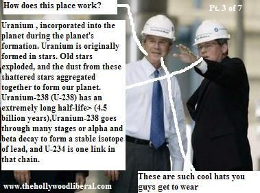 George Bush Jr. gets a lesson in Nuclear fission at the Calvert Cliffs nuke facility.