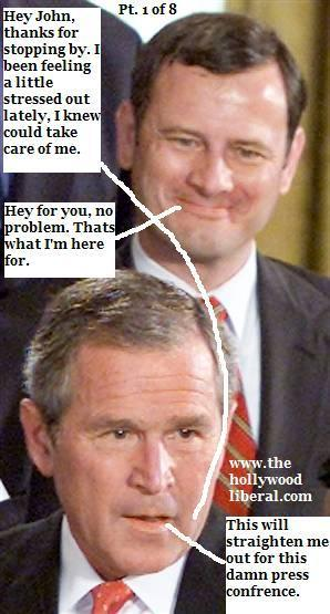 Bush is drinking and doing Cocaine Again 102905