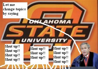President Bush at Oklahoma State University