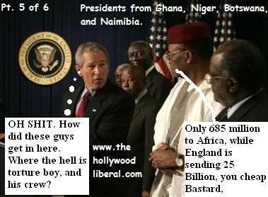 Bush meets with presidents of African nations. to talk aid 061305