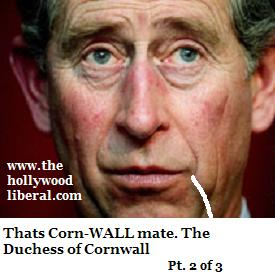 President Bush meets with Prince Charles who recenly married camilla Parker Boweles
