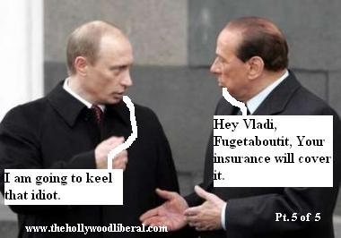 Vladimir Putin, Talks to Silvio Berlusconi about George W. Bush after letting him drive the Volga