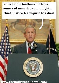 President Bush announces the Death of William Rehnquist